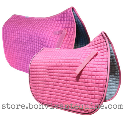 Candy Pink Dressage Saddle Pads