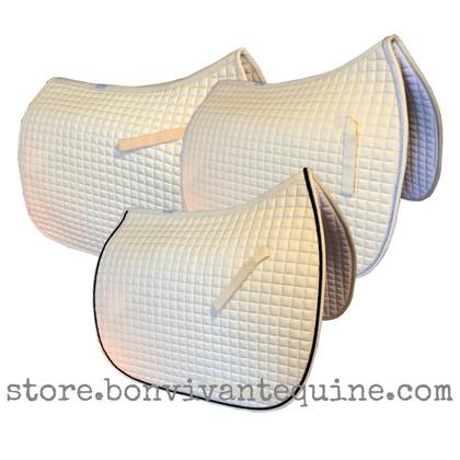 Champagne Butter Cream Dressage Saddle Pads | PRI Pacific Rim International