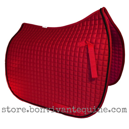 Red Dressage Saddle Pad (Shown here with #7 Black Accent Rope/Cord).