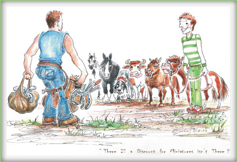 Horse Card:  Farrier Discount for Miniatures #JT49