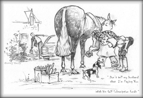Farrier Horse Card:  Don't Tell My Husband #LB49