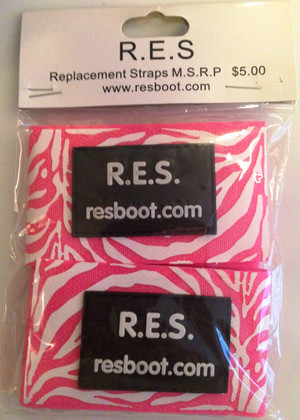 Velcro Straps, ZEBRA PINK (Package of 2) for RES Boot Products