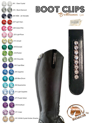 Brilliance Bling Boot Clips | Made with Genuine Swarovski Crystals