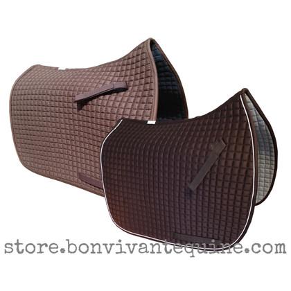 Chocolate Mocca Brown Dressage Saddle Pads   PRI Pacific Rim International