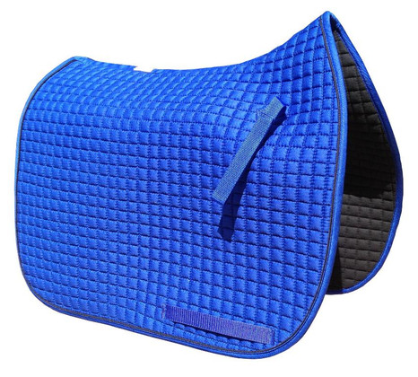 Royal Blue Dressage Saddle Pad with Black Piping/Trim
