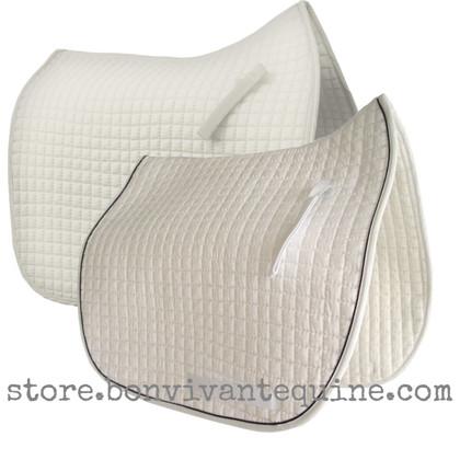 White Dressage Saddle Pads   PRI Pacific Rim International