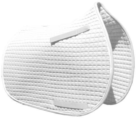 White All-Purpose English Saddle Pad