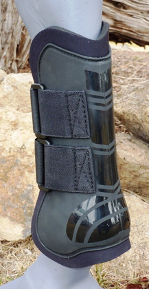 Each set of open front jump boots comes with four black Velcro® straps (two straps per boot).  Additional Velcro Sold Sep. for your perfect boot color.