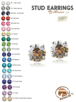 7mm Swarovski® Stud Equestrian Earrings | Brilliance Gala by Beasties™