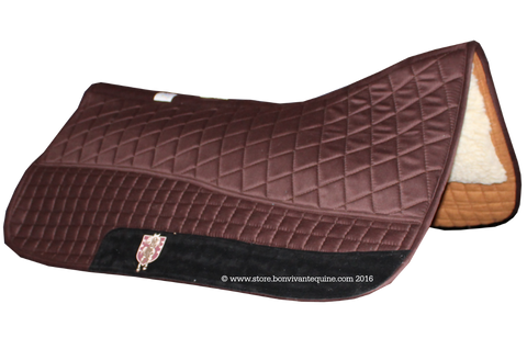 Dark Chocolate Brown Western Saddle Pad