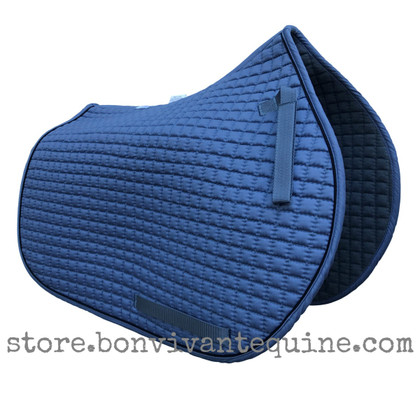 Coast Blue All-Purpose Saddle Pad with Black Piping.
