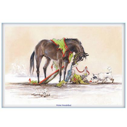 "Christmas Horse Card:  ""Winter Wonderland"" #JT06"