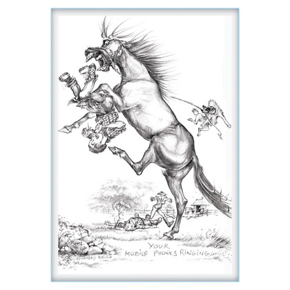 Your Mobile Phone is Ringing- Funny Farrier Horse Cards | Jude Too - Lesley Bruce
