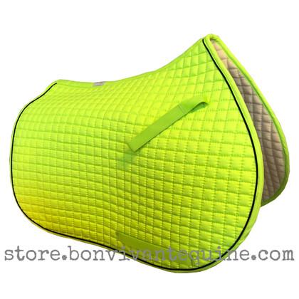 NEON Lemon-Lime green all-purpose English saddle pad