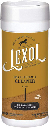 Lexol Quick Wipes - Leather Tack Cleaner, Step 1 - 25 Pre-Moistened Tack Cleaning Towels  | Manna Pro
