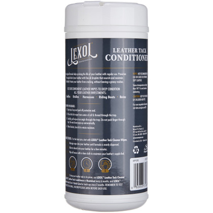 Lexol Quick Wipes - Leather Tack Conditioner, Step 2 - 25 Pre-Moistened Tack Conditioning Towels  | Manna Pro