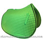 Lime-Apple-Green all-purpose English saddle pad.  Shown here with black accent rope/cord.