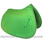 Lime-Apple-Green all-purpose English saddle pad.  Shown here with #12 Lime Green accent rope/cord.