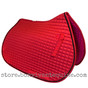 Red All-Purpose English Saddle Pad.  Shown Here with Black Accent Rope/Cord.