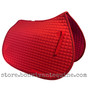 Red All-Purpose English Saddle Pad.  Shown Here with Matching Red #1 Accent Rope/Cord.