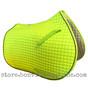 Neon Lemon-Lime All-Purpose Saddle Pad with black piping.