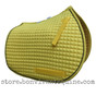 Yellow All-Purpose English Saddle Pad with black piping.