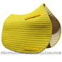 Yellow All-Purpose English Saddle Pad with matching, yellow piping.
