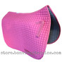 Candy Pink Dressage Saddle Pad with Matching Pink Piping