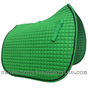 Lime Green Dressage Saddle Pad - Shown here with black accent rope/cord.