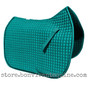 Teal Dressage Saddle Pad with Black Piping by  PRI Pacific Rim International