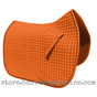 Pumpkin Orange Dressage Saddle Pad Shown here with Black Piping