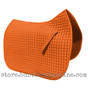 Pumpkin Orange Dressage Saddle Pad Shown here with Matching Orange Piping