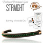 EVENTING IN EMERALD CITY | Green Browband (to view more color options, select an option from the drop-down menu).  This is a stunning browband and usually this crystal color sells out during the winter months - what a beautiful color for snow riding.