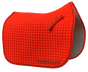 Blaze Hunter Safety Orange Dressage Saddle Pad - Shown here with optional black piping/trim