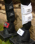 RES Stealth Splint Boots.  Currently available in black or white.  Purchase replaceable Velcro® Straps to add color to your boots.