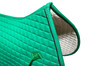 Zoom to View:  Kelly Green All-Purpose English Saddle Pad with Black Piping.  By PRI Pacific Rim International.