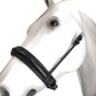 """Leather Crank Cavesson (Noseband without a flash) by Beasties™ Horse Tack Solutions.  Cavesson is 1.75"""" Wide.  Shown here with Flat Hanging Straps."""