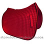Gorgeous and Vibrant Red Dressage Saddle Pad Color (Shown here with #7 black accent rope/cord).