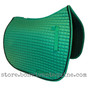 Kelly Green Dressage Saddle Pad with Black Accent Rope/Cord.