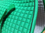 Zoom to view details of:  Kelly Green Dressage Saddle Pad with Black Piping.