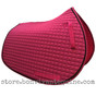 Magenta / Hot Pink all-purpose saddle pad with black accent rope/cord.