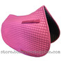 Candyfloss Pink All-Purpose English Saddle Pad.  Shown here with matching pink piping/trim.
