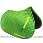 Lime Apple Green All-Purpose Saddle Pad.  Shown here with black piping.