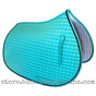 Mint Green All-Purpose English Saddle Pad.  Shown here with optional #7 Black Accent Rope/Cord.