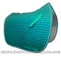 Teal Dressage Saddle Pad with White Piping by PRI Pacific Rim International.