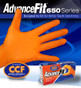 Advance Fit Disposable Powder-Free Nitrile Examination Gloves, Box of 90-100