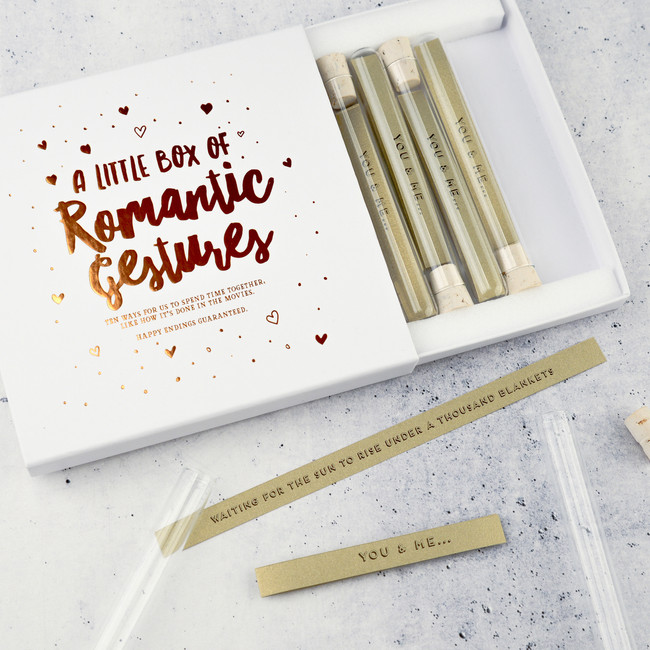 A Little Box Of Personalised Romantic Gestures