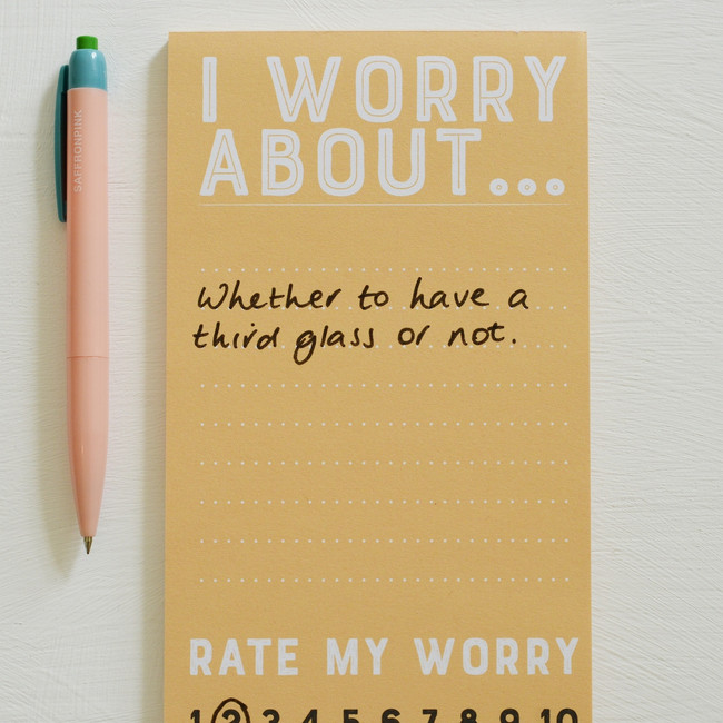 Rate my Worry Note Pad