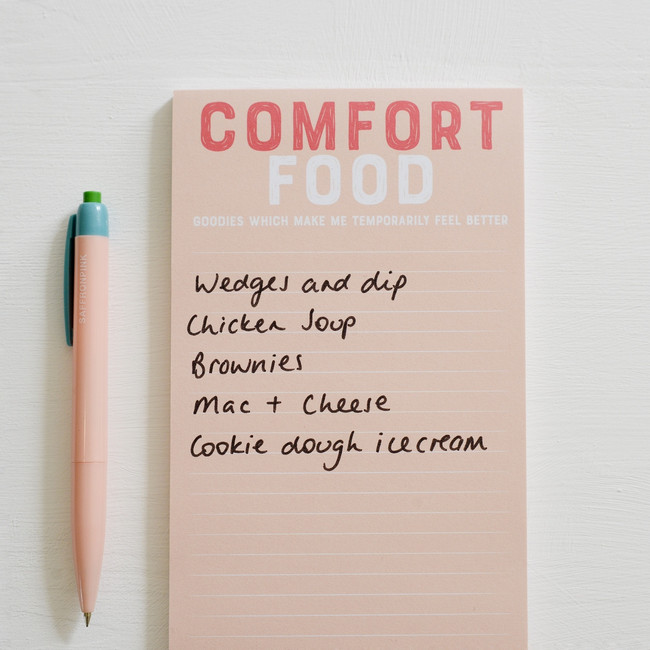 Comfort Food shopping list pad