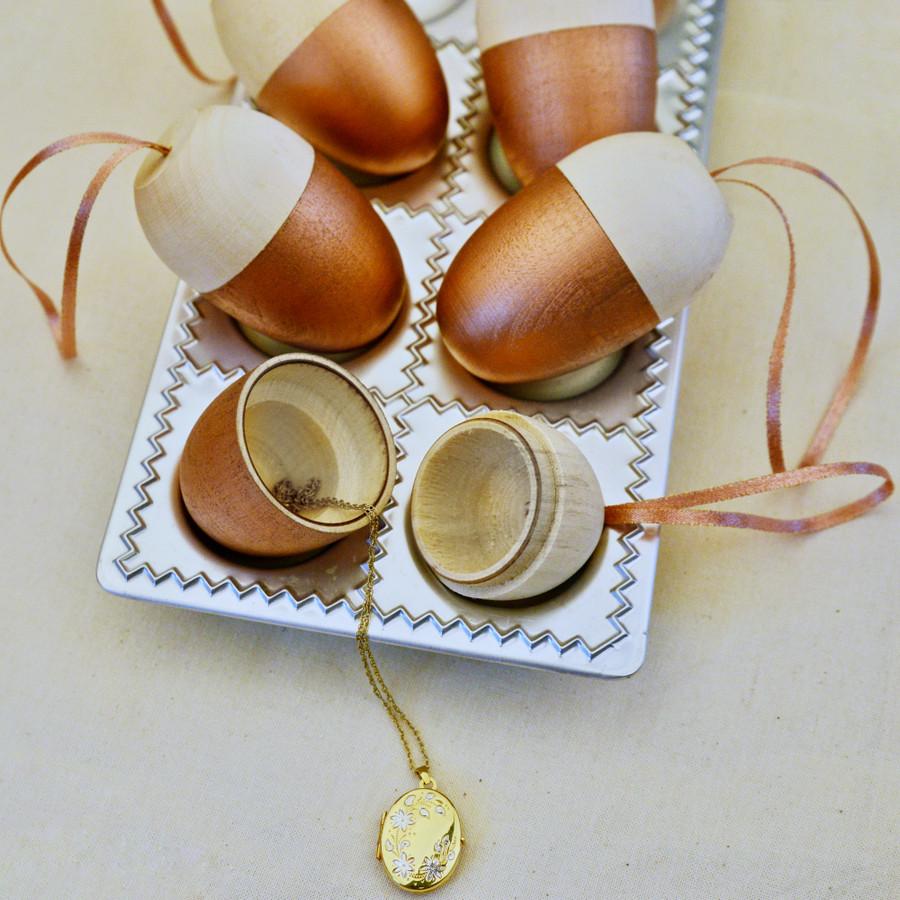 Personalised Wooden Acorn Surprise Decorations